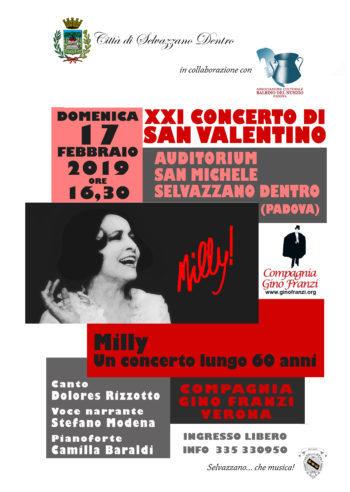 Milly un concerto lungo 60 anni