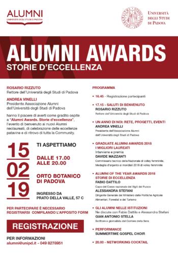 Alumni Awards: storie d'eccellenza