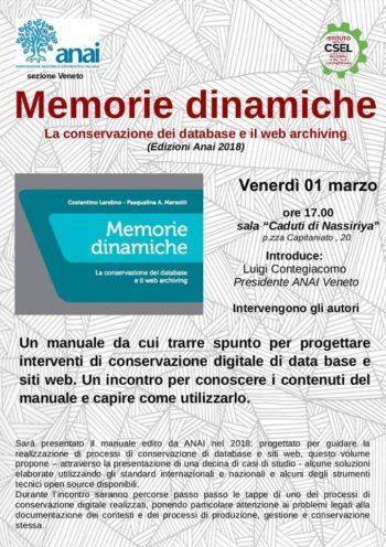 Memorie dinamiche. La conservazione dei database e il web archiving