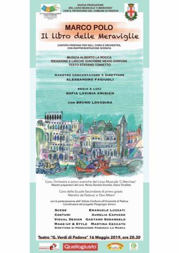 """Cantata profana tra Italia e Cina: """"Marco Polo, il libro delle meraviglie"""""""