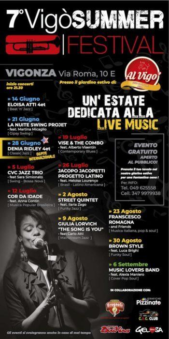 7° VigòSUMMER FESTIVAL – 12 concerti – 50 artisti tra Funky Soul, Blues, Gipsy Swing, Jazz e musica brasiliana