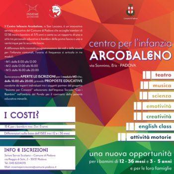 Il centro dell'infanzia Arcobaleno ha ripreso l'attività: ancora posti disponibili per la fascia pomeridiana