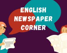 English newspaper corner