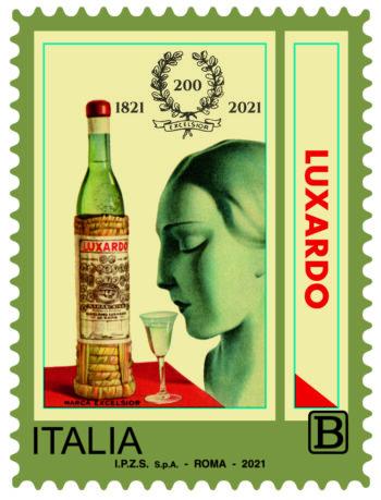 Il francobollo celebrativo per i 200 anni di Luxardo nella serie tematica di Poste Italiane
